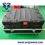Multi emittente di disturbo portatile dei militari di frequenza ultraelevata di VHF di alto potere di protezione del convoglio del veicolo della fascia VIP