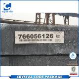 Escritura de la etiqueta da alta temperatura impresa código de barras de la etiqueta engomada para el hierro