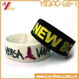 Bracelete feito sob encomenda do silicone do logotipo para presentes da promoção