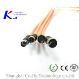 Отлитая в форму штепсельная вилка M8 прямо 2, 3, 4, 5, 6, 8 вспомогательных оборудований круглого кабеля Pin IP67