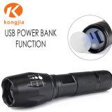 Torcia dell'indicatore luminoso di alto potere del USB T6 di Zoomable con la Banca di potere