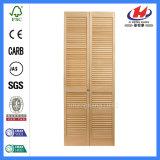 Pine Lourver Bi-Fold Porta dobrável de madeira (JHK-B07)