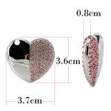 De mooie Aandrijving het UK van de Pen van het Hart USB van het Kristal van het Metaal