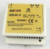 60W는 산출 DIN 가로장 전력 공급을 골라낸다