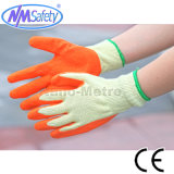 Nmsafety 10g полиэстера с покрытием Palm Латексные перчатки безопасности