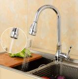 All-Copper tirer de l'effluent de type double pomme de douche Robinet de cuisine