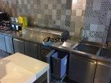 Vier Tür-Edelstahl-Handelskühlraum-Gefriermaschine-Prüftisch für Kaffeestube oder Hotel (GN4100BT)