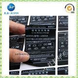 印刷されたPVC/Paperのステッカーの自己接着ラベルの印刷のバーコードの透過ステッカー(jps196)