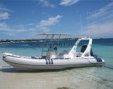 Fiberglas-Rumpf-steife aufblasbare Boote China-Liya 3.3-8.3m mit Motor