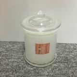 L'Australie interne blanche pot de verre de pulvérisation bougie avec couvercle en verre