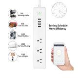 Beschermer van de Schommeling van de Strook van de Macht van WiFi de Slimme met 3 AC Afzet en 4 Havens USB