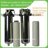 Vaso industrial de los cárteres del filtro del cartucho del acero inoxidable de los Ss