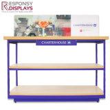 Métal fait sur commande d'étage de qualité et Tableau en bois d'étalage d'outils de cuisine