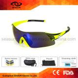 Mujer Rimless UV400 Negro polarizado ciclismo la ejecución de gafas de sol para deportes al aire libre