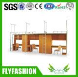 Base de beliche do metal do dormitório da escola com mesa e gabinete Bd-19