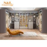 Armadio Walk-in del guardaroba di legno del MDF di MFC del portello scorrevole di N&L