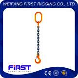 良質の溶接された合金鋼鉄Grade80鎖の持ち上がる吊り鎖