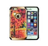 Calotta di protezione rossa di tramonto di lusso di placcatura per la cassa di coperture iPhone6/6plus