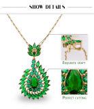 De groene Diopside 18K Gouden Juwelen van de Juwelen van de Partij Vastgestelde In het groot