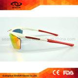 高品質の循環の屋外スポーツガラスに乗るカスタムロゴによって印刷されるUV400スポーツのサングラス