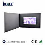 De calidad superior para 6 la tarjeta video de /Business del folleto video del saludo del LCD Digitaces de la pulgada