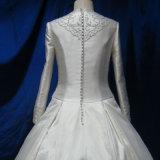 O árabe novo projeta vestidos muçulmanos dos vestidos de casamento de Dubai da luva longa