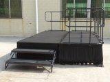 Étape se pliante en acier portative avec du matériau de tapis pour l'événement extérieur