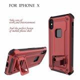 Hybride zukünftige Rüstungs-harter Handy-Fall mit Kickstand für iPhone X