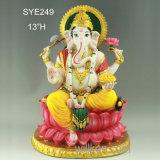 Ganesha Statue手作りされた装飾的なヒンズー教の神の偶像の樹脂の主