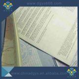 Certificado embutido segurança do original de papel da linha