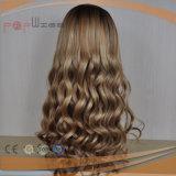 Peluca brasileña del pelo rizado del frente del cordón del pelo de la Virgen (PPG-l-01273)