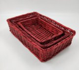 Hot vendre Rectangle Rouge Panier Willow (BC-WB18)