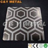 304 En acier inoxydable avec décoratifs de vibrations, Ti-Black Couleurs de revêtement et la gravure