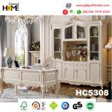 Софа античной классицистической мебели деревянная с неподдельной кожей (HC826)