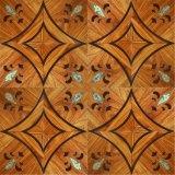Plancher en bois de couleur de cru pour Hosehold/film publicitaire