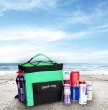 اللون الأخضر يعزل شاطئ يبرّد حقيبة مع [شوولدر سترب] قابل للتعديل