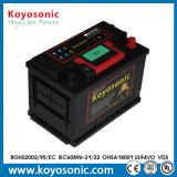 Un buen rendimiento de la partida 12V 60Ah automático de batería sin mantenimiento.
