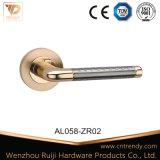 둥근 로즈 (AL011-ZR11)에 알루미늄 자물쇠 손잡이
