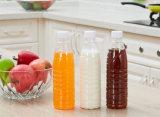 [300مل] مربّع ضخمة مستديرة يطبع لبن عصير زجاجة مع غطاء بلاستيكيّة بيضاء