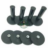 内部通された穴またはハンドルが付いている強いNdFeBのゴム製上塗を施してある鍋の磁石