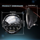 차 부속품 75W DRL Philips Feep Offroad 모는 빛을%s 자동 라운드 7 인치 LED 둥근 헤드라이트