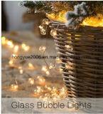 Hauptkupferner Draht-Glas-Luftblasen-feenhafte Lichter der dekoration-LED mit Timer