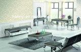 Vetro/Tabella pranzante superiore acciaio inossidabile marmo/di legno della mobilia della sala da pranzo