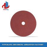 Толщина 8 мм пластмассовый оптоволоконный диски с оксид алюминия шлифовальной бумаги