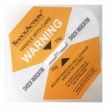 L'emballage d'avertissement de collant de baisse de Shockaction étiquette l'indicateur de choc