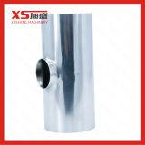 Tubo de acero inoxidable higiénico de soldadura de montaje de la reducción de la tee corto