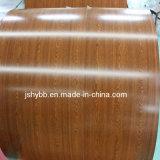 Matérias-primas PPGI bobina de aço impresso de chapa de aço com padrão de madeira para material de construção
