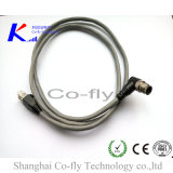 Защищено прямо & вспомогательное оборудование кабеля мужчины M12 IP67 локтя с мыжской штепсельной вилкой RJ45