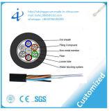 Cable óptico aéreo al por mayor GYFTY de fibra de la envoltura del PE de Alibaba con la base 96