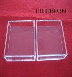 Rectángulo de la pureza de la alta calidad que derrite el plato claro del cuarzo sin cubierta